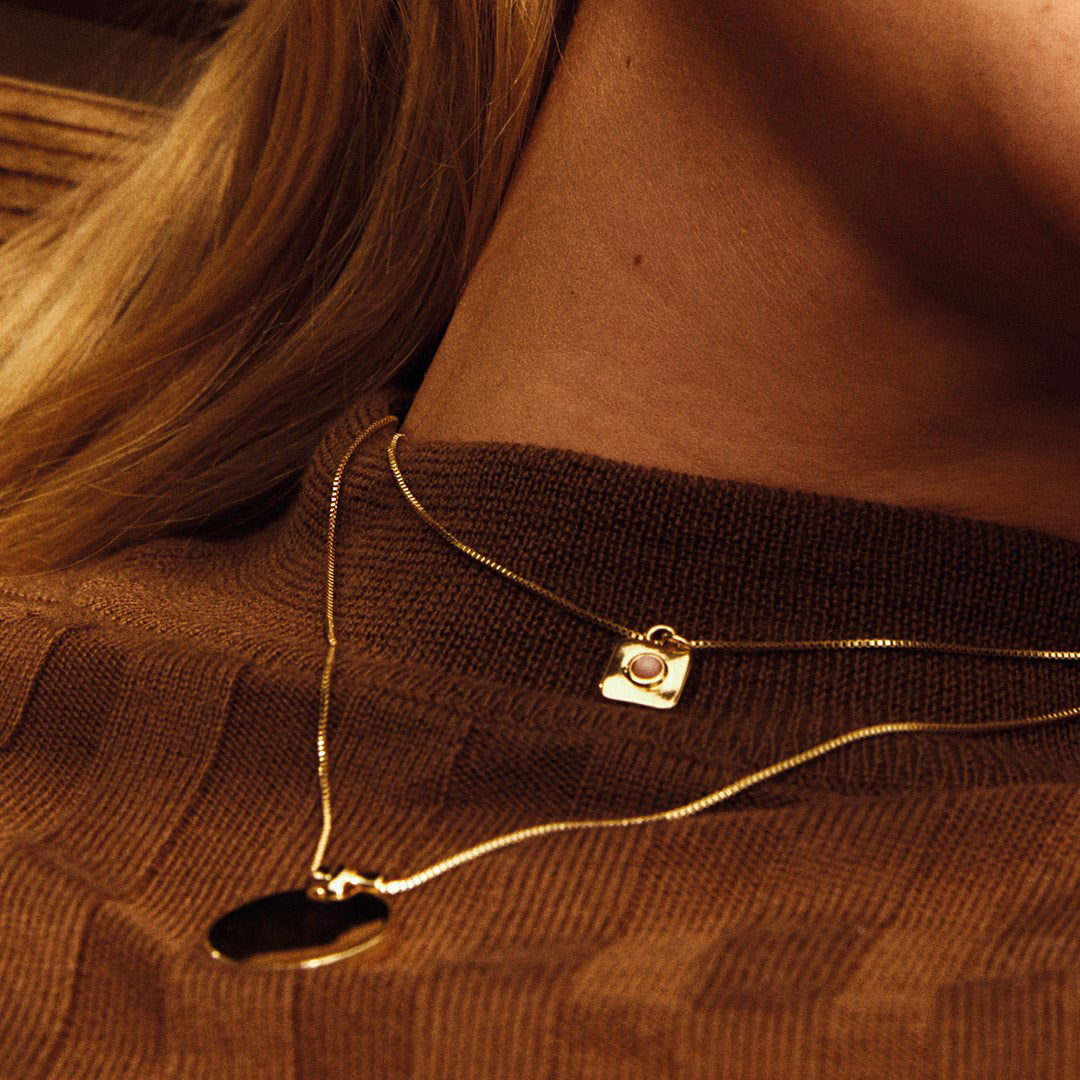Necklace : Wisdom : Gold Plated : Rose