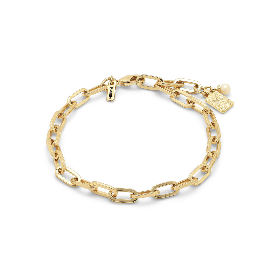 Bracelet : Hana : Gold Plated : White