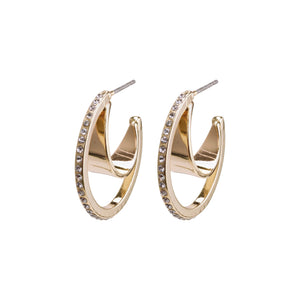 Earrings : Beauty : Gold Plated : Crystal