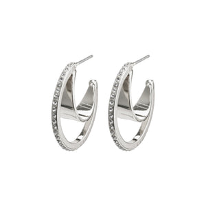 Earrings : Beauty : Silver Plated : Crystal
