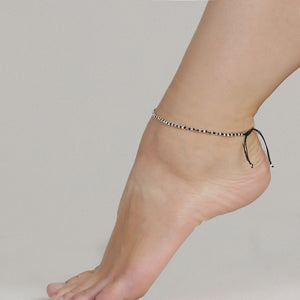 Ankle chain : Jun : Silver Plated