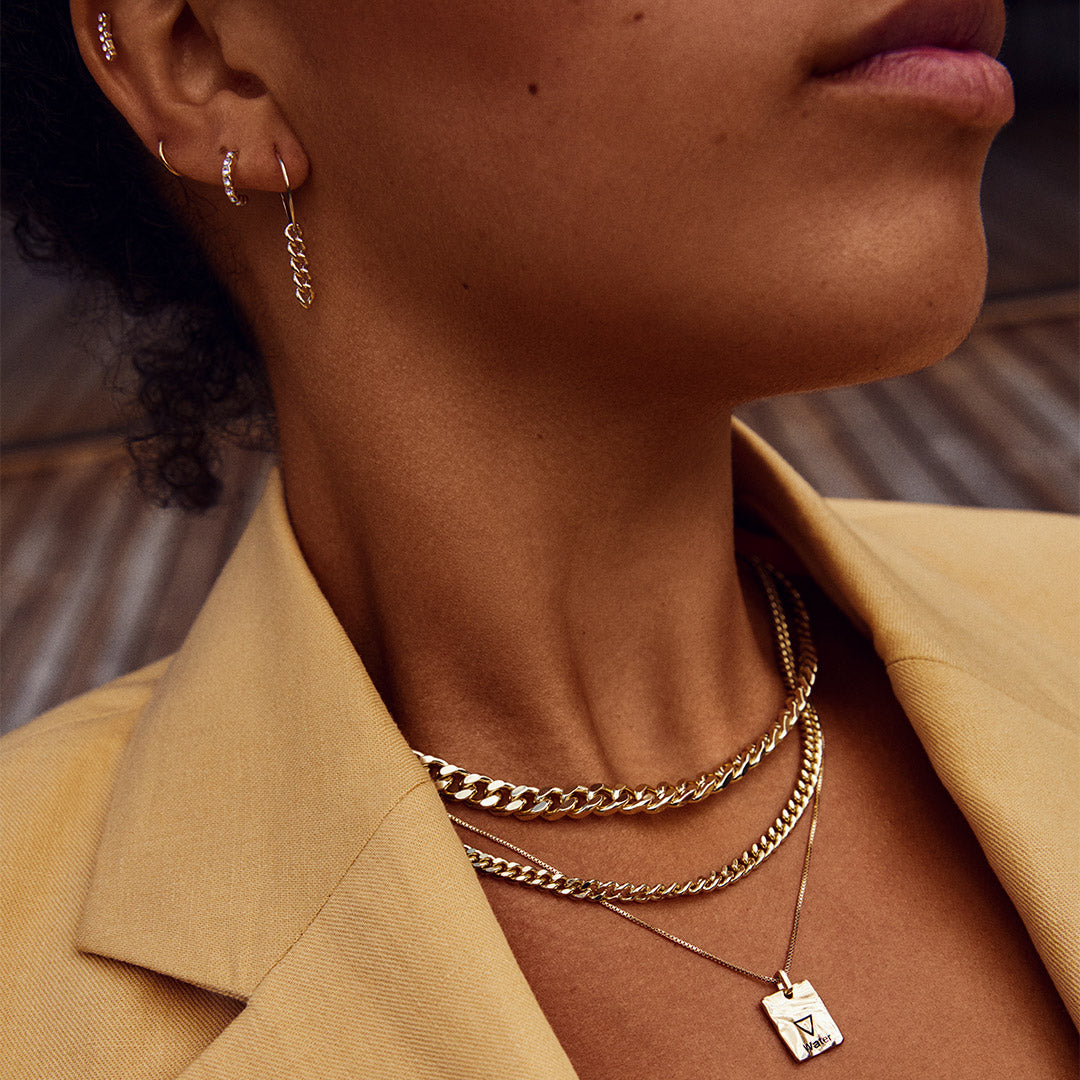 Necklace : Water : Gold Plated