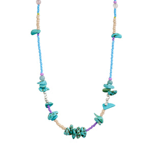 Necklace : Joy : Silver Plated : Green