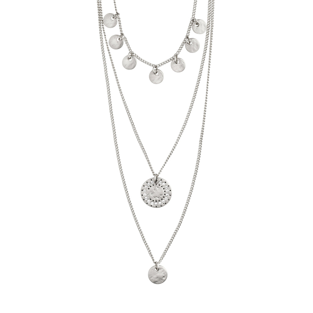 Necklace : Arden : Silver Plated : Crystal
