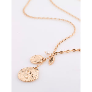 Necklace : Poesy : Rose Gold Plated : White