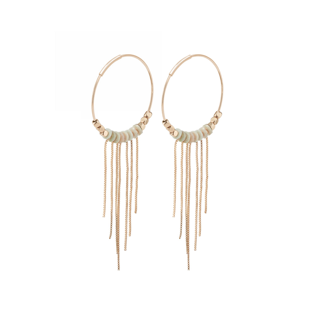 Earrings : Sincerity : Rose Gold Plated : Grey