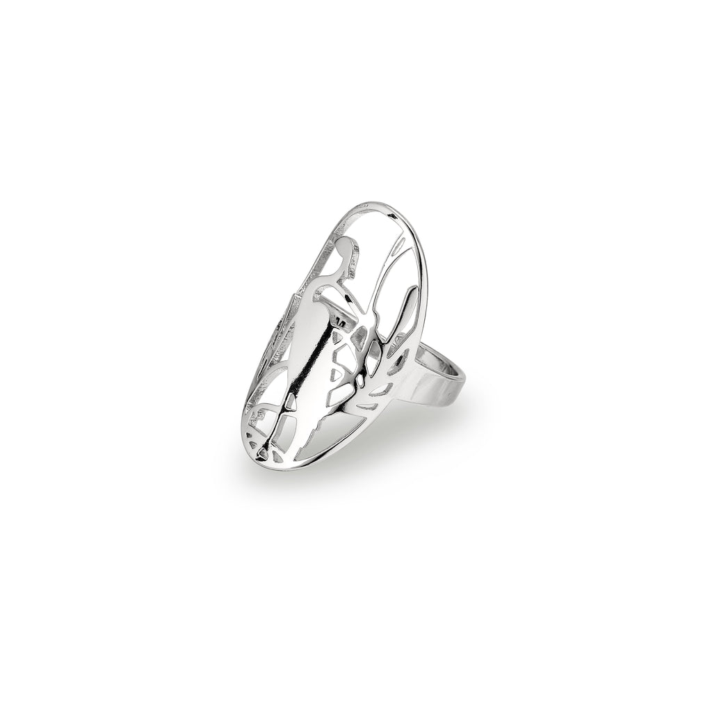 Ring : Jada : Silver Plated