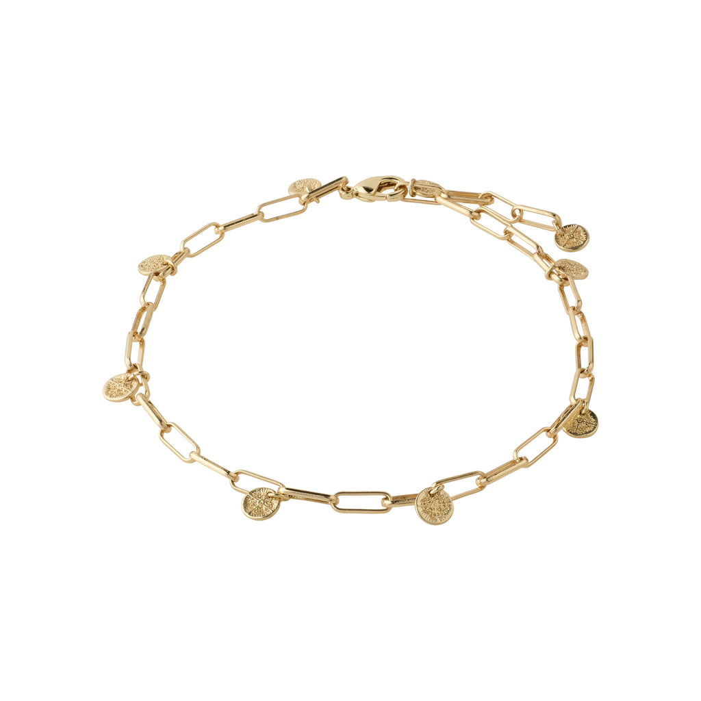 Ankle chain : River : Gold Plated
