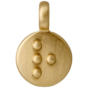 Pendant : Letter pendant : Gold Plated : R