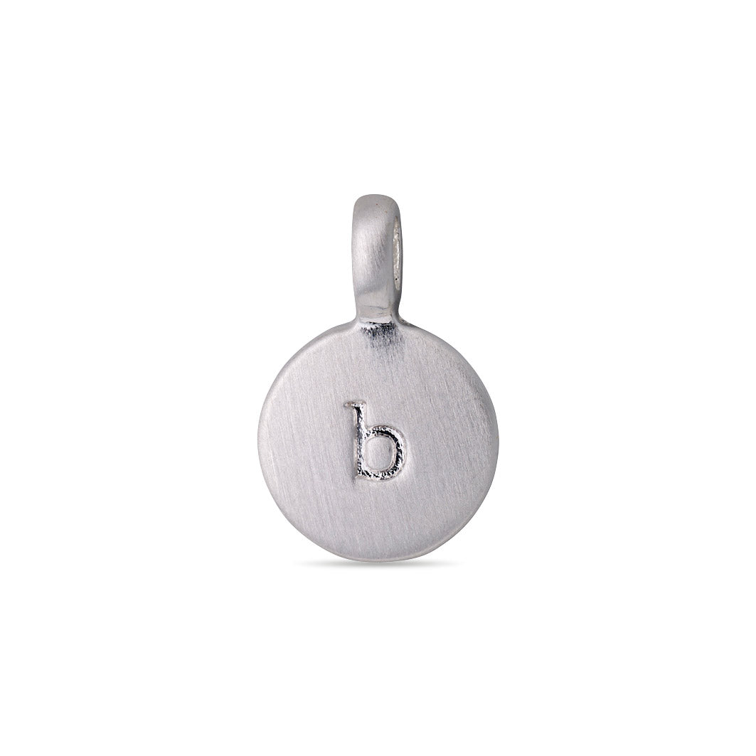 Pendant : Letter pendant : Silver Plated : B