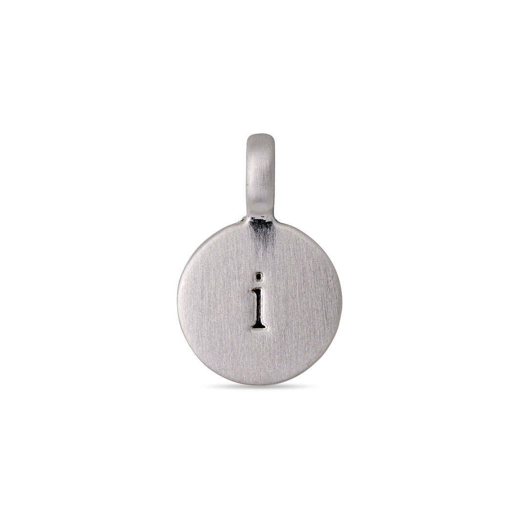 Pendant : Letter pendant : Silver Plated : I