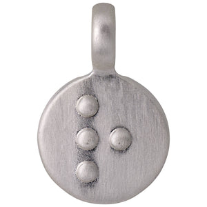 Pendant : Letter pendant : Silver Plated : R