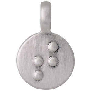 Pendant : Letter pendant : Silver Plated : T