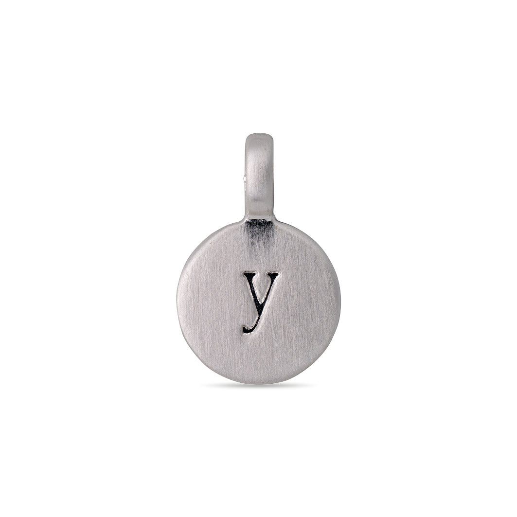 Pendant : Letter pendant : Silver Plated : Y