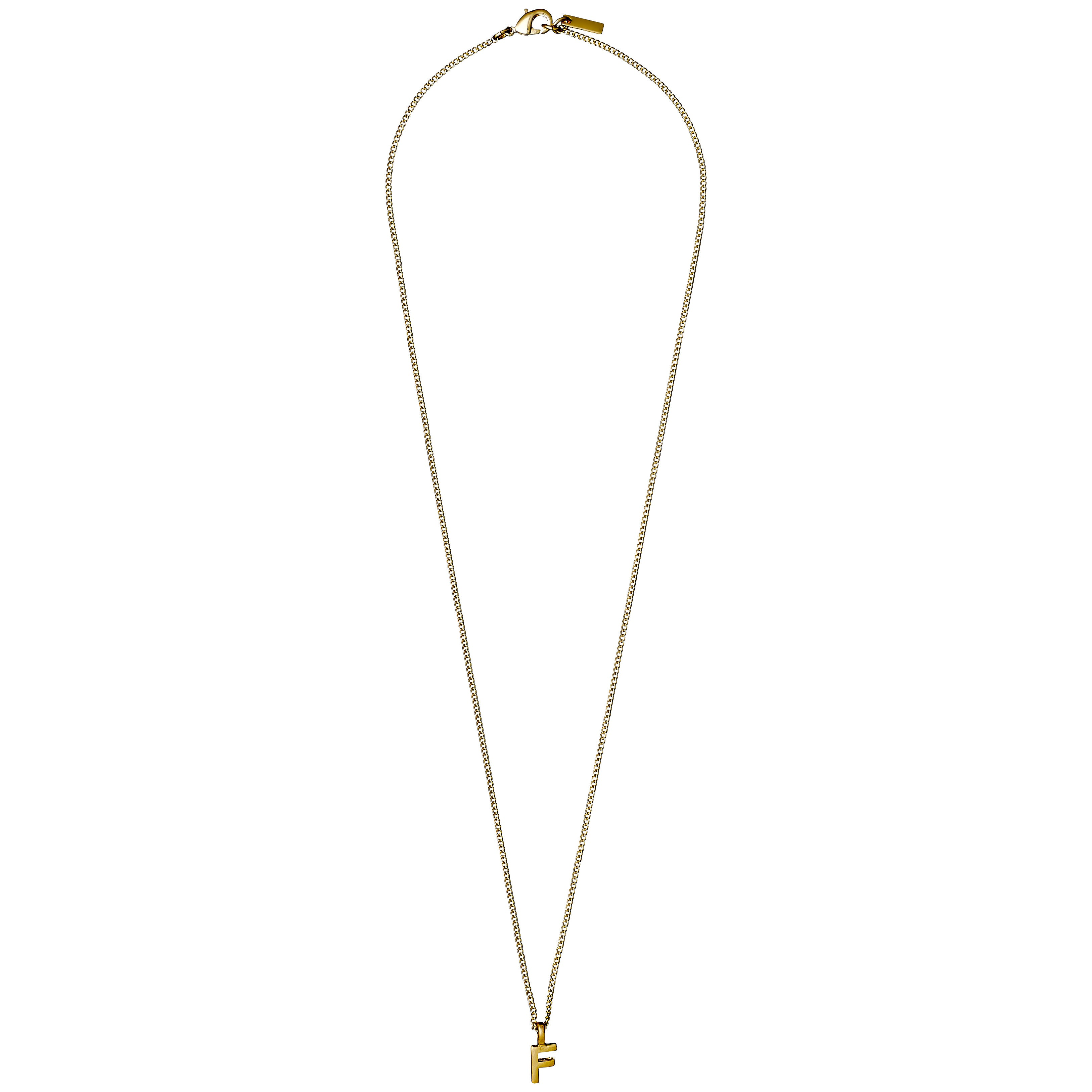 Necklace : Gold Plated : F