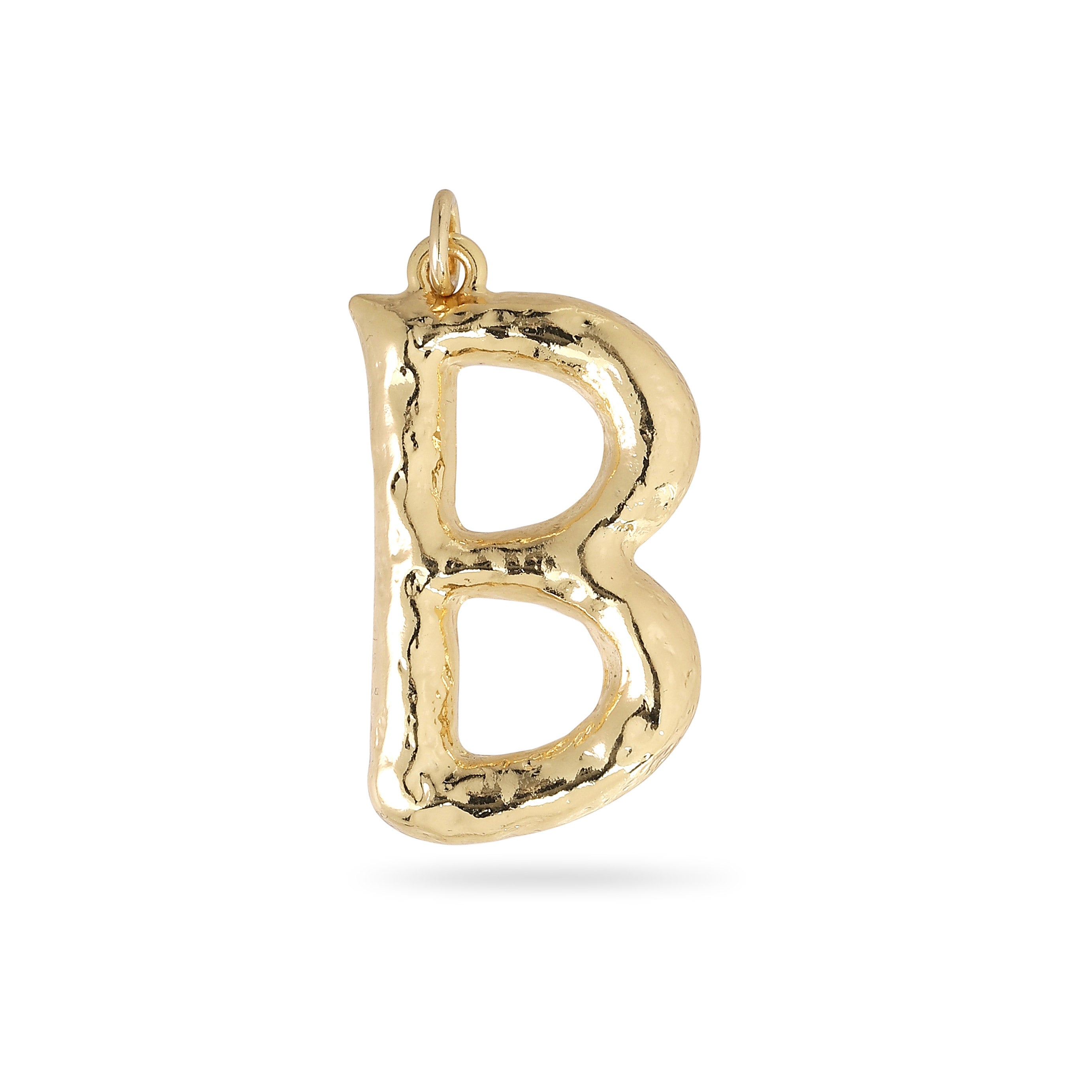 Pendant : Big letter pendant : Gold Plated : B