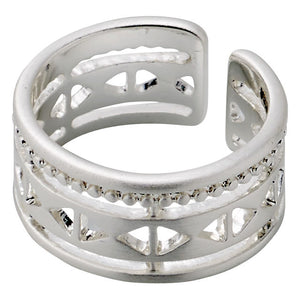 Ring : Crystal clear : Silver Plated