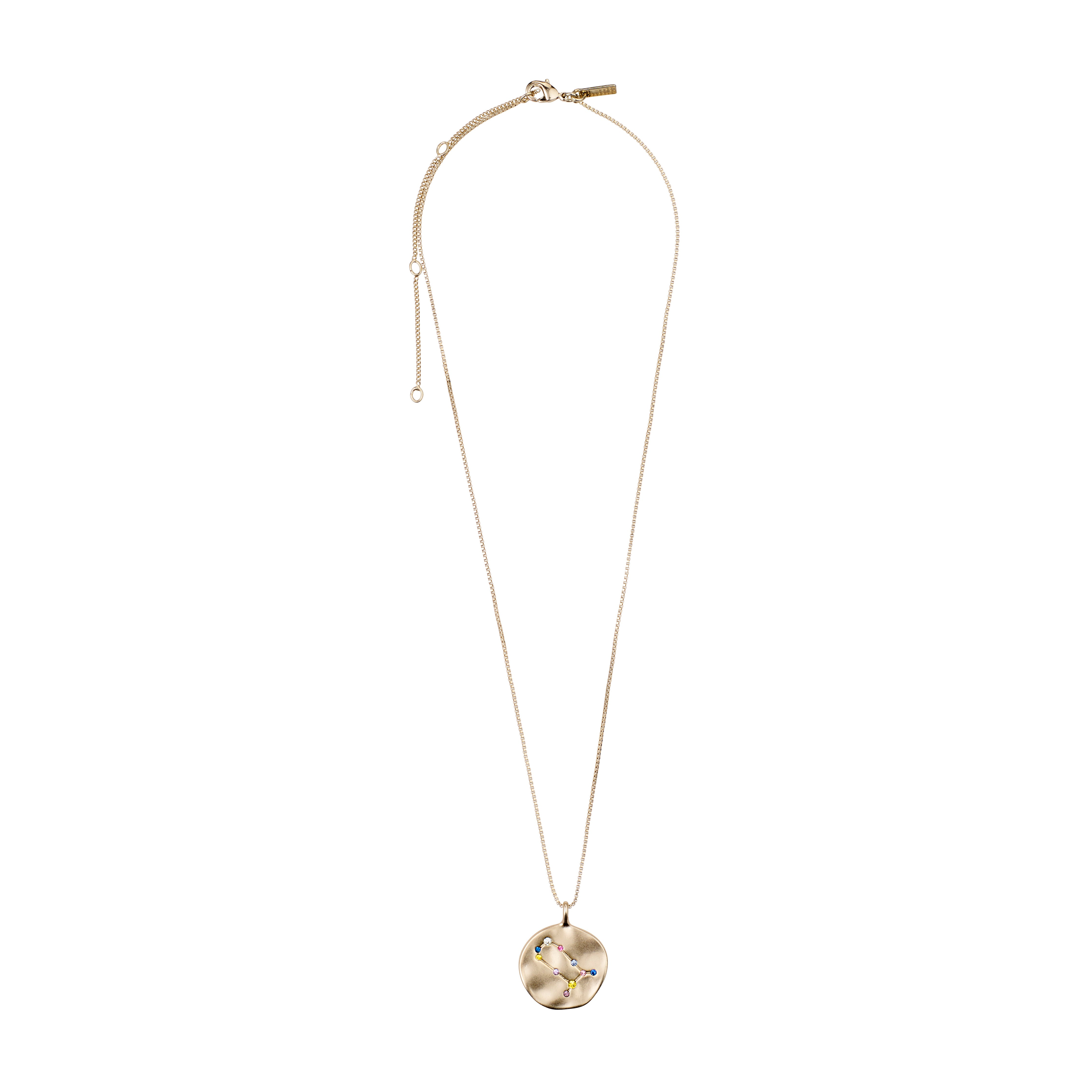 Necklace : Gemini Zodiac Sign : Gold Plated : Multi