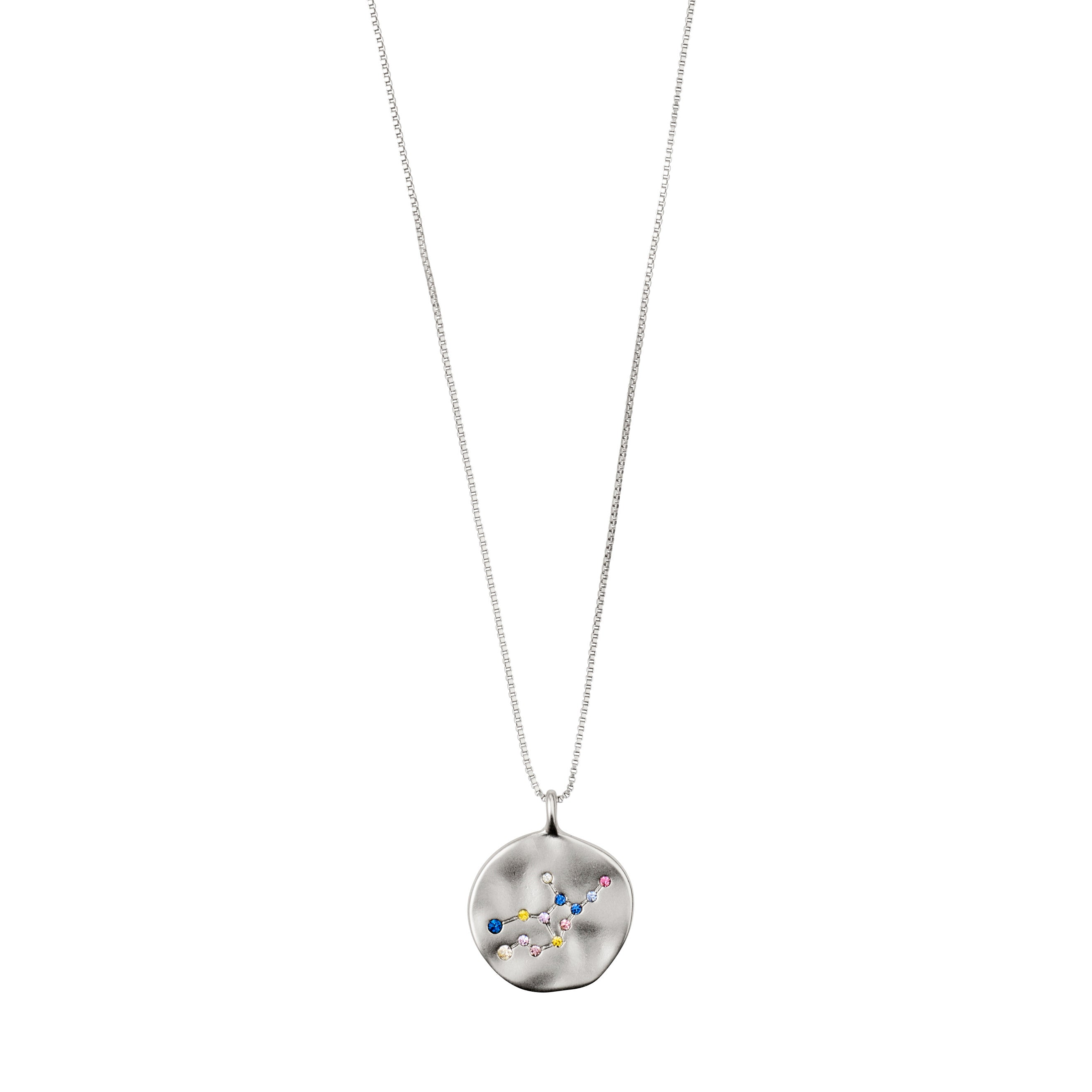 Necklace : Virgo Zodiac Sign : Silver Plated : Multi