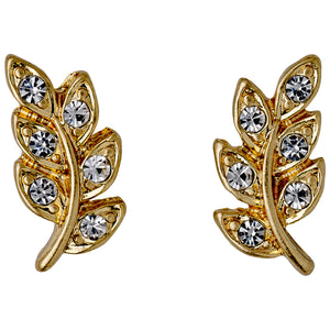 Earrings : Imogen : Gold Plated : Crystal