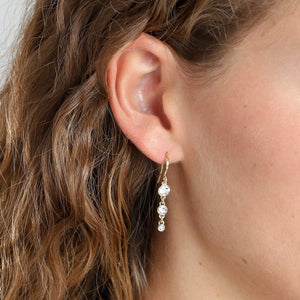 Earrings : Lucia : Gold Plated : Crystal