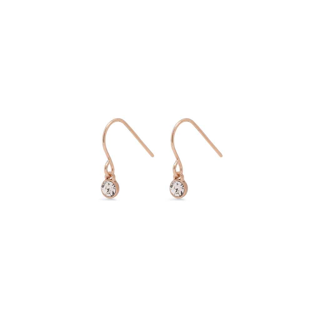 Earrings : Lucia : Rose Gold Plated : Crystal