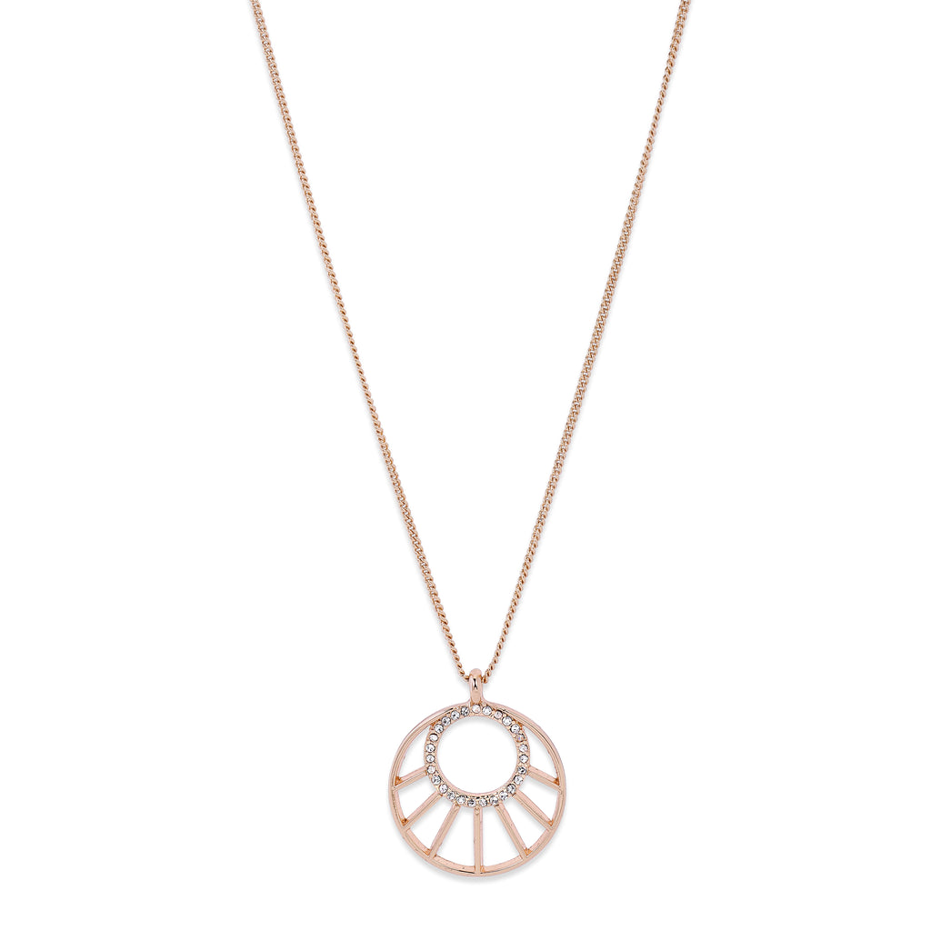 Necklace : Cassie : Rose Gold Plated : Crystal