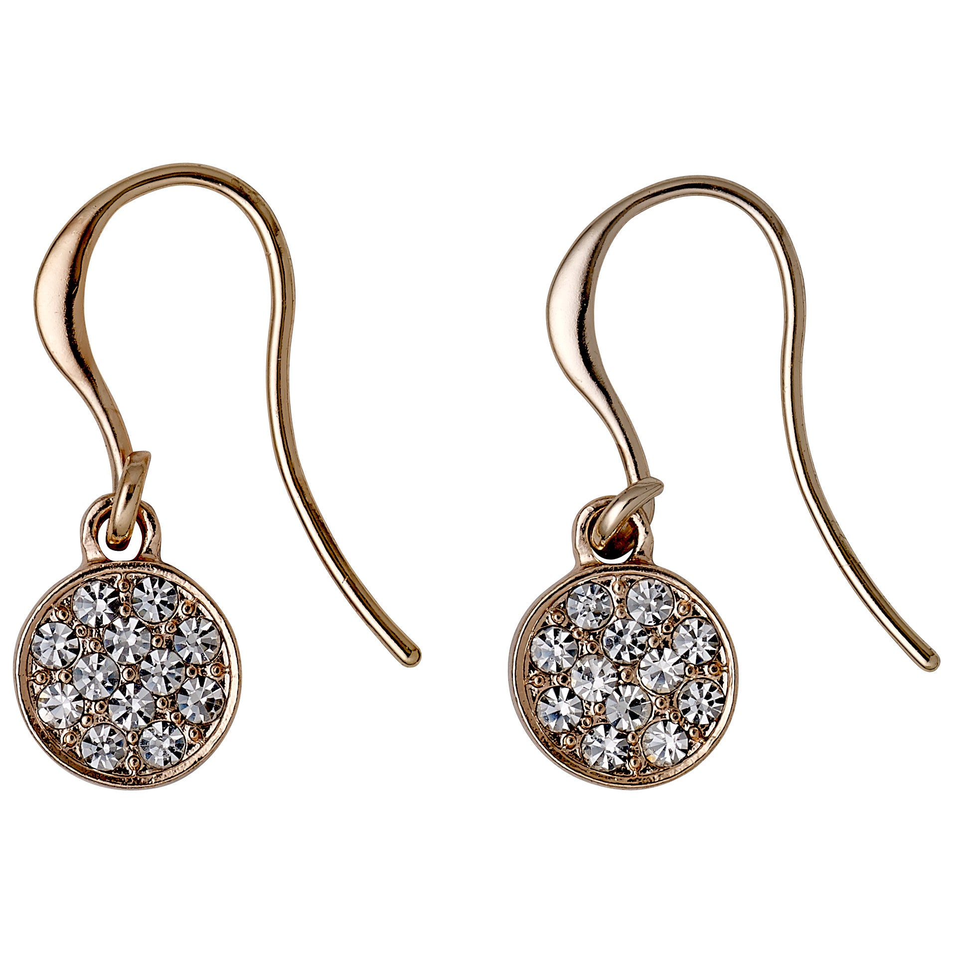 Earrings : Grace : Rose Gold Plated : Crystal