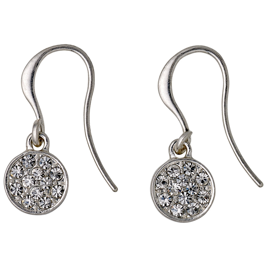 Earrings : Grace : Silver Plated : Crystal