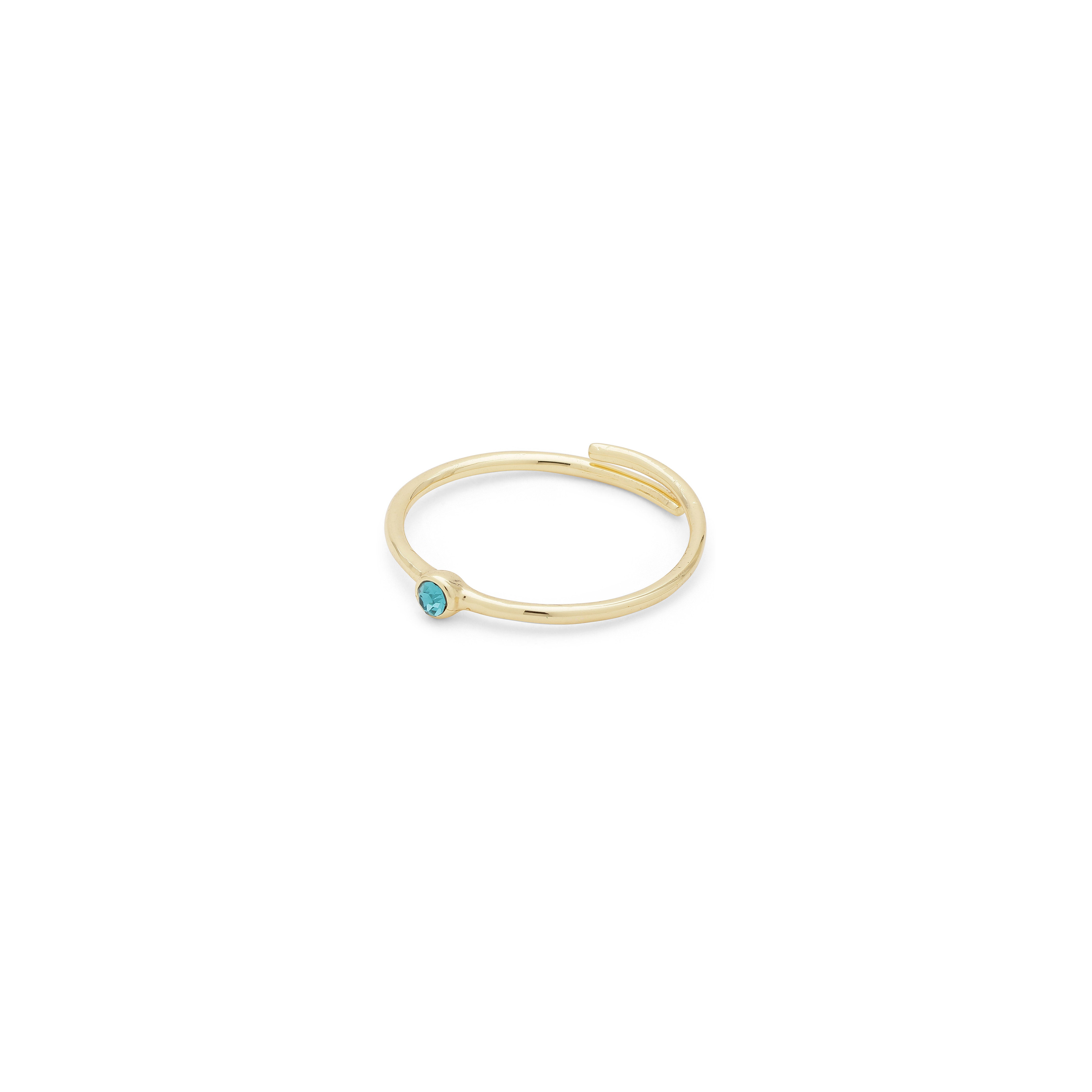 Ring : Lulu : Gold Plated : Blue
