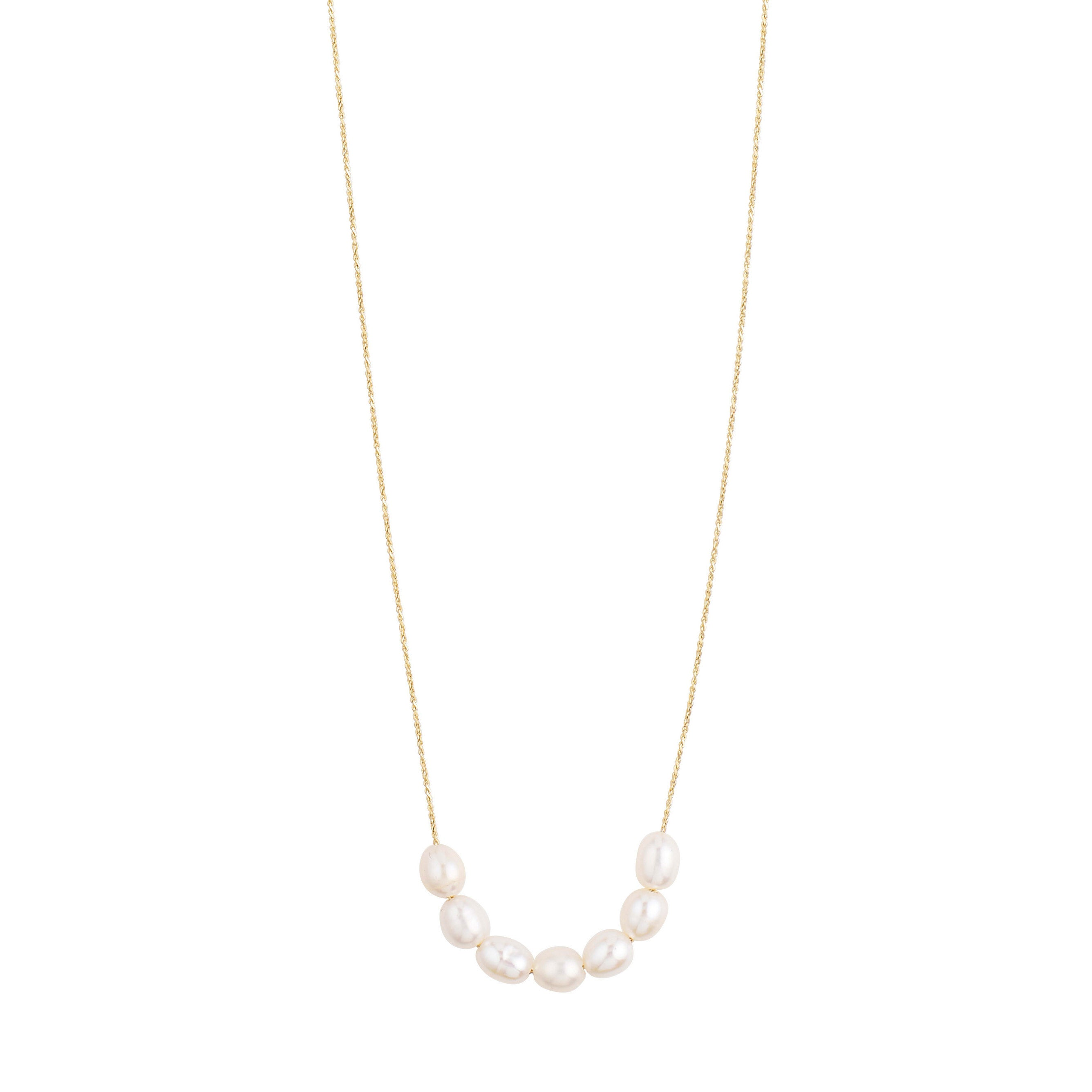 Necklace : Chloe : Gold Plated : White
