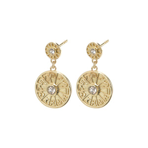 Earrings : Fia : Gold Plated : Crystal