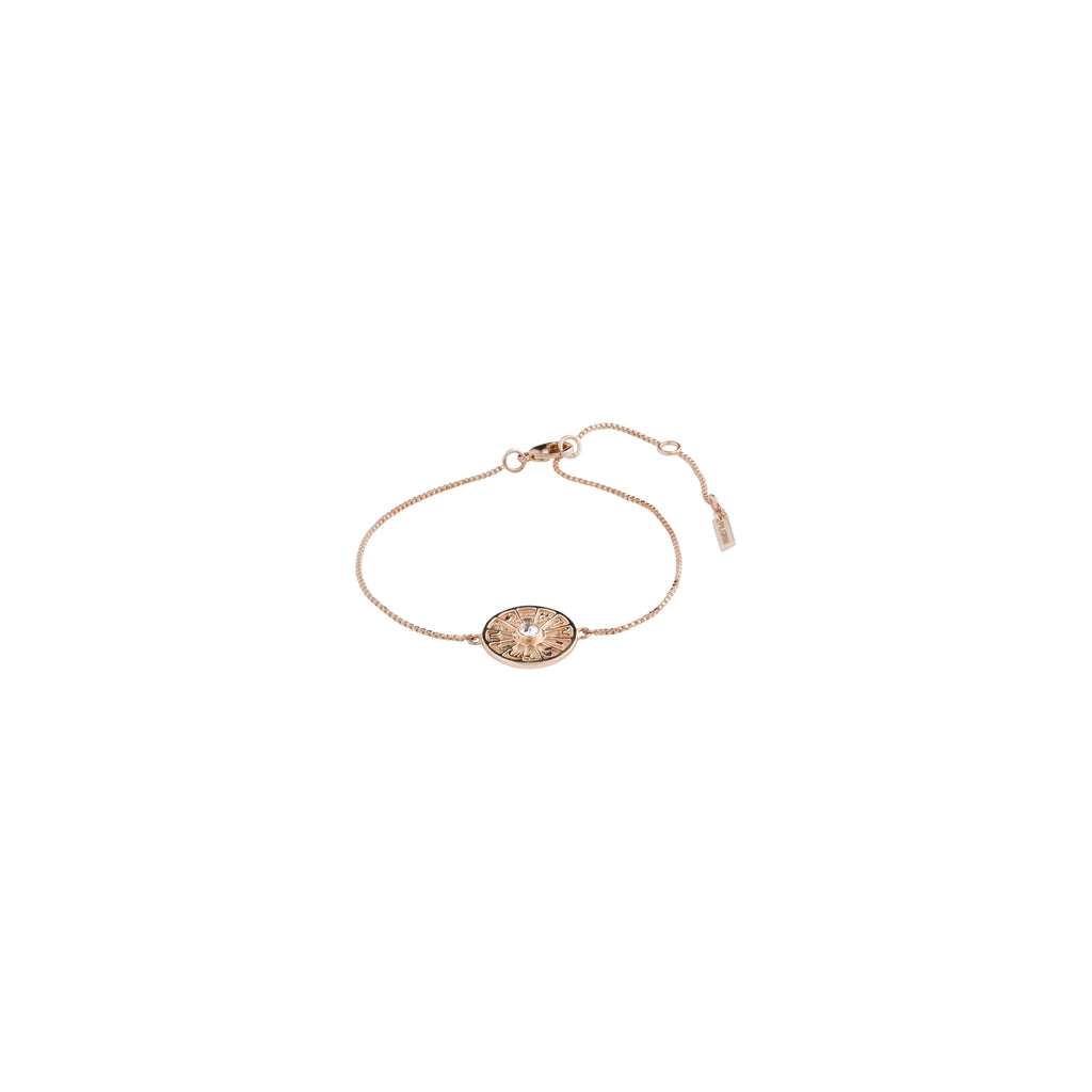 Bracelet : Fia : Rose Gold Plated : Crystal