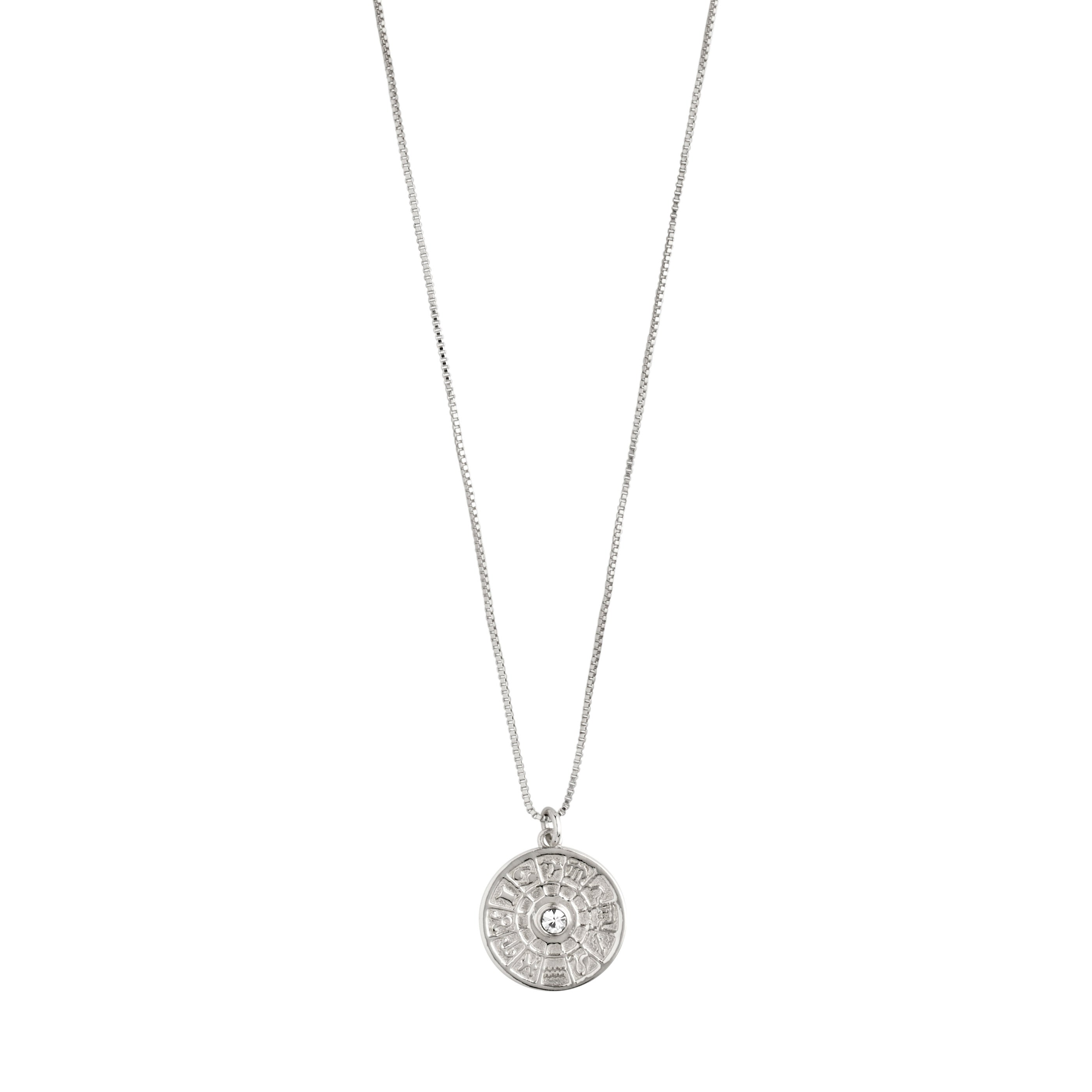 Necklace : Fia : Silver Plated : Crystal