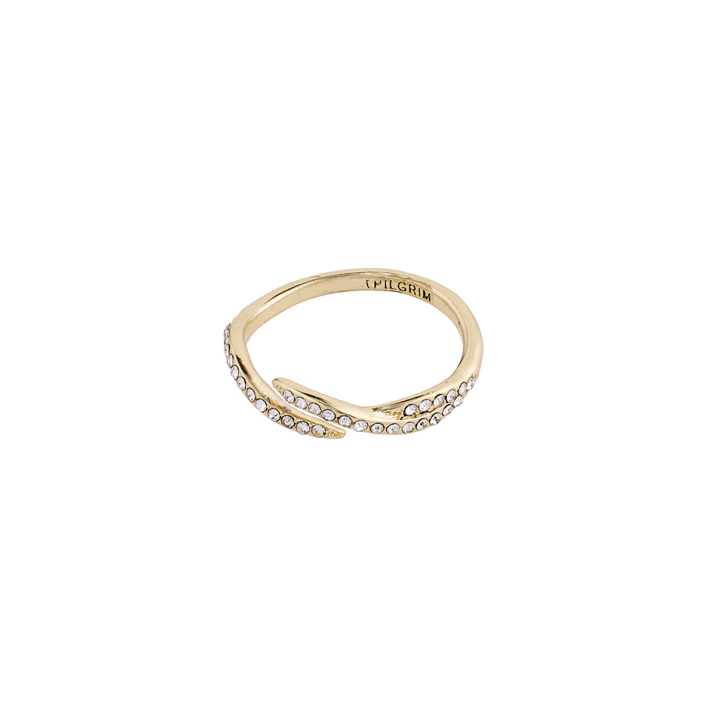 Ring : Katherine : Gold Plated : Crystal