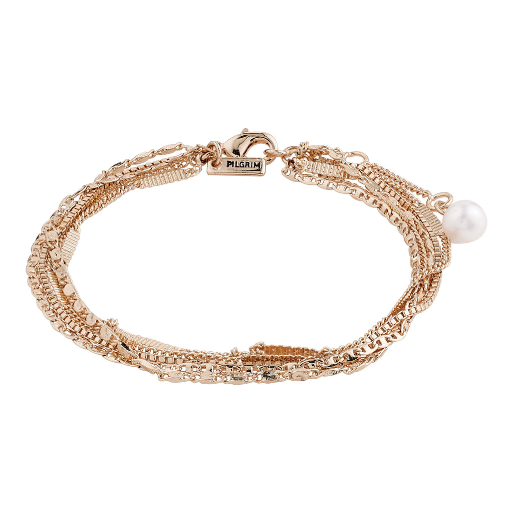 Bracelet : Katherine : Rose Gold Plated : White