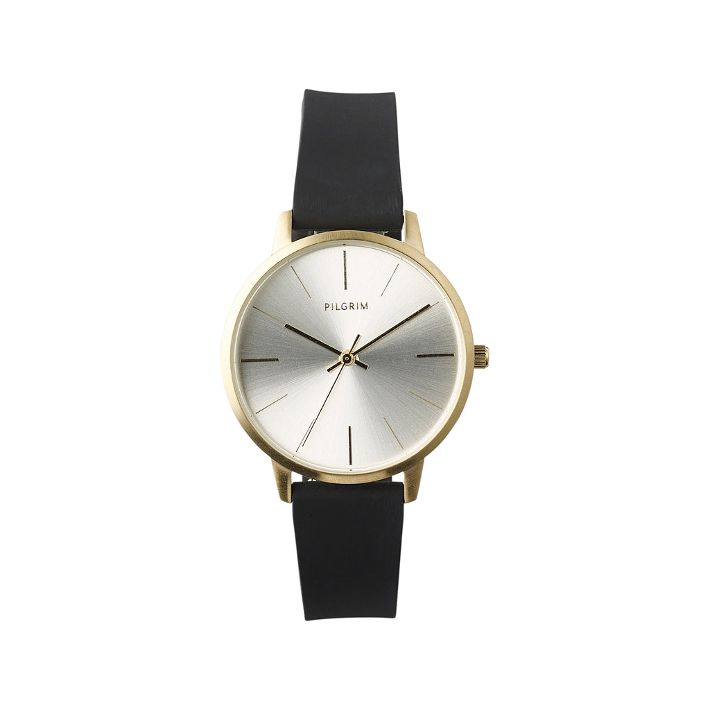 Watch : Dalia : Gold Plated : Black