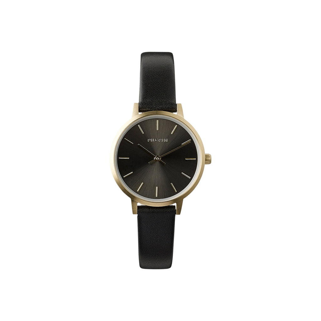 Watch : Nerine : Gold Plated : Black