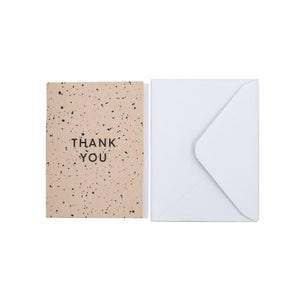 "Greeting card, ""Thank you"" with envelope"