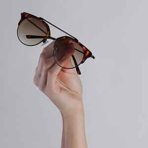Sunglasses : Lotus : Brown plated : Brown