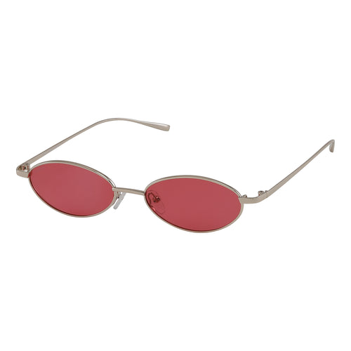 Sunglasses : May_PI : Gold Plated : Red