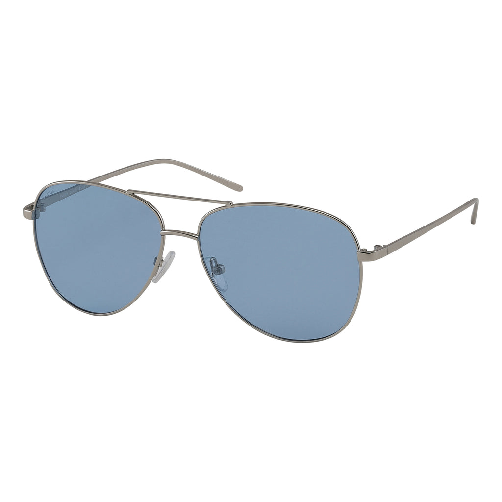 Sunglasses : Nani : Silver Plated : Blue