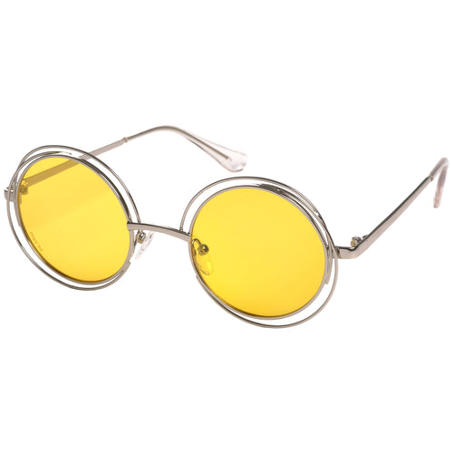 Sunglasses : Marcella : Silver Plated : Yellow