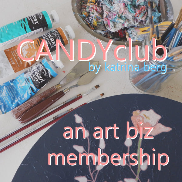 "candy colored studio podcast episode #123 - ladies of the candy colored club present the ""candy club collective"" small works show"