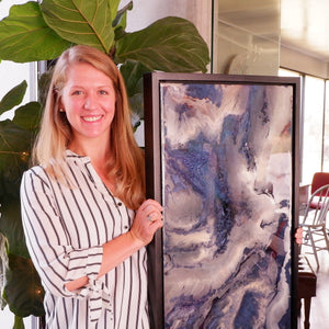 lisa draper contemporary mixed media resin artist and mother in utah