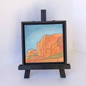 "brekke sjoblom - ""amid the red rocks"" (8 x 8"")"