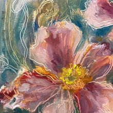 "beki tobiasson - ""flash of anemone"" (6 x 6"")"