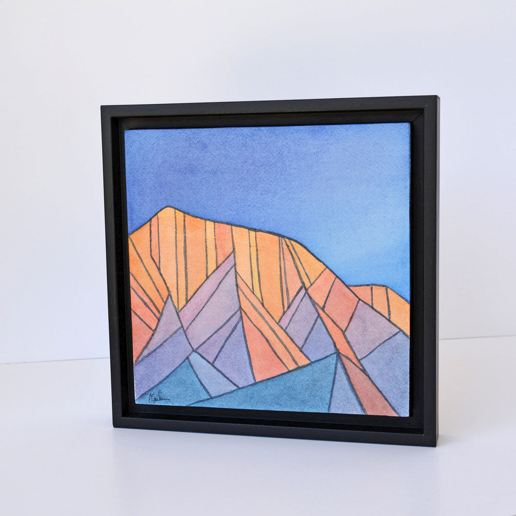 "brekke sjoblom - ""fragmented nightfall, mt. olympus"" (8 x 8"")"