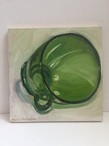 "jessica michaelson - ""green glass"" (6 x 6"")"