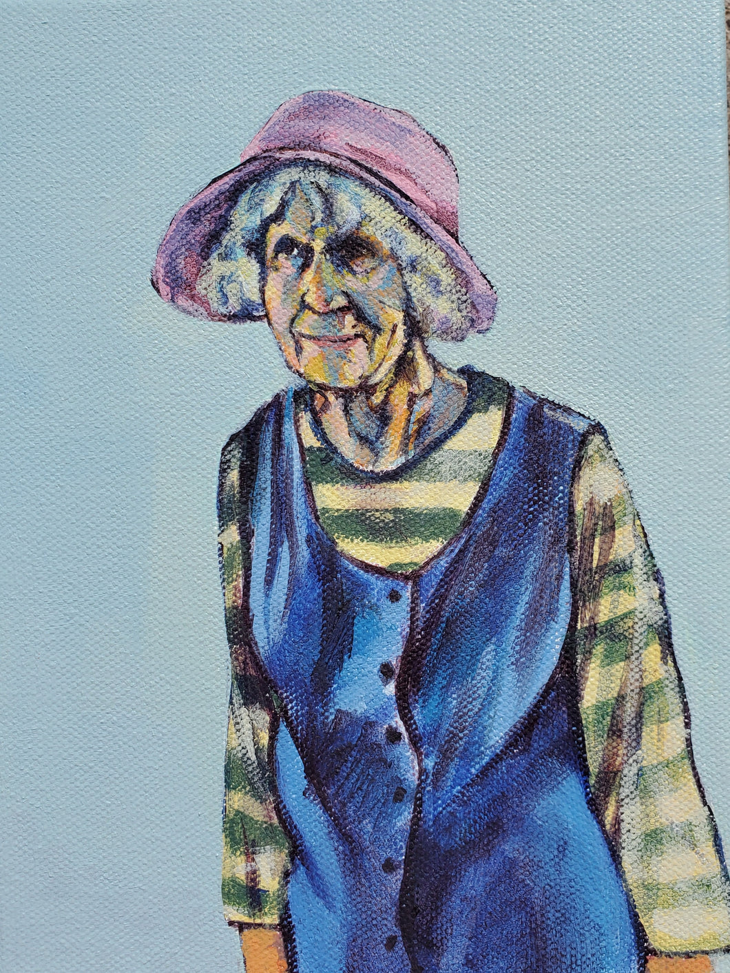 "sarah maynard - ""lady in pink hat"" (6 x 8"")"